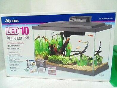 10 gl led aquarium kit