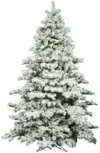 Vickerman Flocked Alaskan Unlit Pine Christmas Tree