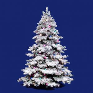 Vickerman 6.5' Flocked Alaskan Pine Artificial Christmas Tree