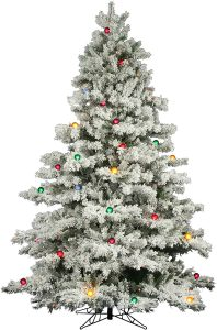 "Vickerman Flocked Alaskan 7' 6"" White Artificial Christmas Tree"