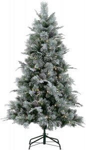 LordofXMAS Flocked Artificial Christmas Tree